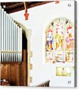 St Mylor Organ Pipes Acrylic Print