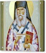 St Nektarios Of Aigina II Acrylic Print by Julia Bridget Hayes