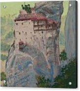 St Nicholas Anapapsas Monastery - Meteora - Greece Acrylic Print