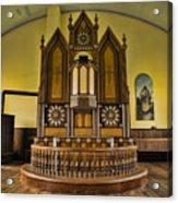 St Olafs Kirke Pulpit Acrylic Print