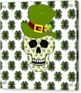 St Paddys Skull  Acrylic Print