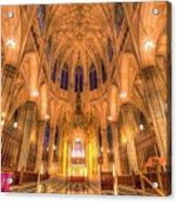 St Patrick's Cathedral Manhattan New York Acrylic Print