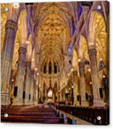 St Patrick's Cathedral Acrylic Print