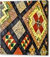 St. Patrick's Cathedral Mosaic Floors Acrylic Print