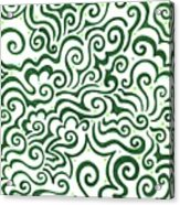 St Patrick's Day Abstract Acrylic Print