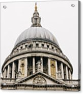 St Paul Cathedral Dome Acrylic Print