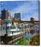 St Paul Tugboat Acrylic Print