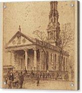 St. Paul's, Broadway, N.y. Acrylic Print