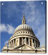 St Pauls Cathedral London England Uk Acrylic Print