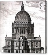 St. Pauls Drawn By Christopher Wren Acrylic Print