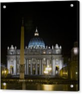 St Peter's At Night Acrylic Print