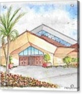 St. Peter's Catholic Church, Jupiter, Florida Acrylic Print