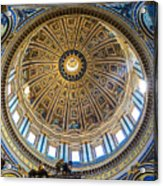 St. Peters Inside The Dome Acrylic Print