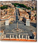 St Peter's Square Acrylic Print