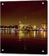 St Petersburg, Fl, Skyline At Night Acrylic Print
