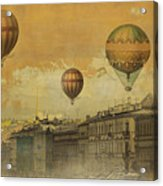 St Petersburg With Air Baloons Acrylic Print by Jeff Burgess