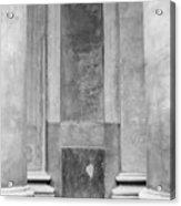 St. Philips Church Pillars II Acrylic Print