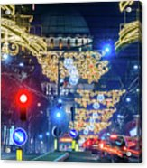 St. Sava Temple In Belgrade Playing Hide And Seek With The Christmas Decorations Acrylic Print