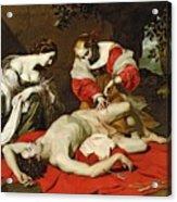 St Sebastian Tended By The Holy Irene Acrylic Print