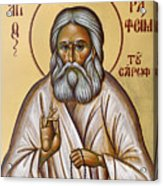 St Seraphim Of Sarov Acrylic Print by Julia Bridget Hayes