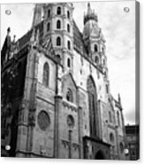 St Stephens Cathedral Vienna In Black And White Acrylic Print
