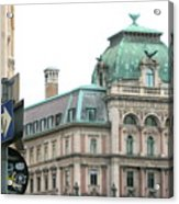 St Stephens Square One Way Vienna Acrylic Print