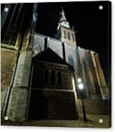 St. Steven's Church In Nijmegen At Night Acrylic Print