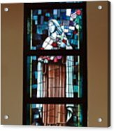 St. Theresa Stained Glass Window Acrylic Print