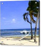 St Thomas Beach Hamocks And Boats Iggys Acrylic Print