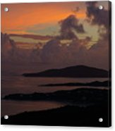 St Thomas Sunset At The U.s. Virgin Islands Acrylic Print