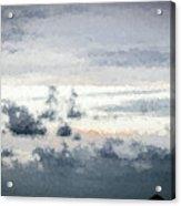 St Thomas - Sunset Over A Small Island Acrylic Print