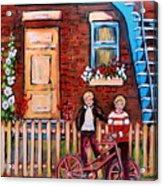 St. Urbain Street Boys Acrylic Print