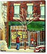 St Viateur Bagel Shop Montreal Acrylic Print