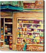 St Viateur Street Montreal  Acrylic Print