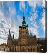 St  Vitus Cathedral In Prague Acrylic Print