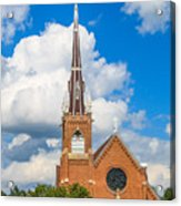 St Wenc On A Bright Summer Day Acrylic Print