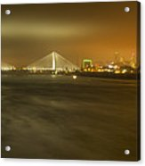 Sta Musial Bridge And St Louis Skyline Acrylic Print