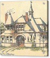 Stable For Mr. M. S. Hershey Lancaster Pennsylvania 1891 Acrylic Print