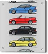 Stack Of E36 Variants Acrylic Print
