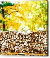 Stack Of Firewood Acrylic Print