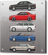 Stack Of Mercedes Benz W124 E-class Acrylic Print