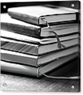 Stack Of Notebooks Acrylic Print