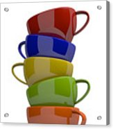 Stacked Cups Acrylic Print