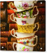 Stacked High Tea Cups Acrylic Print