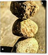 Stacked Rocks Acrylic Print