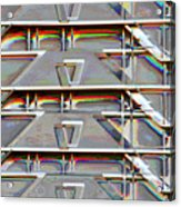 Stacked Storage Crates Abstract Acrylic Print