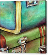 Stacked Vintage Luggage Acrylic Print