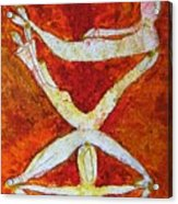 Stacked Yogi's Acrylic Print
