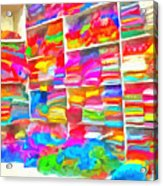 Stacks Of Clothes Ready To Sell Acrylic Print