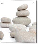 Stacks Of Smooth Pebble Stones Acrylic Print